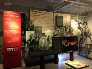 Photo of exhibits providing background to the convention and the events in the nineteenth-century that came after